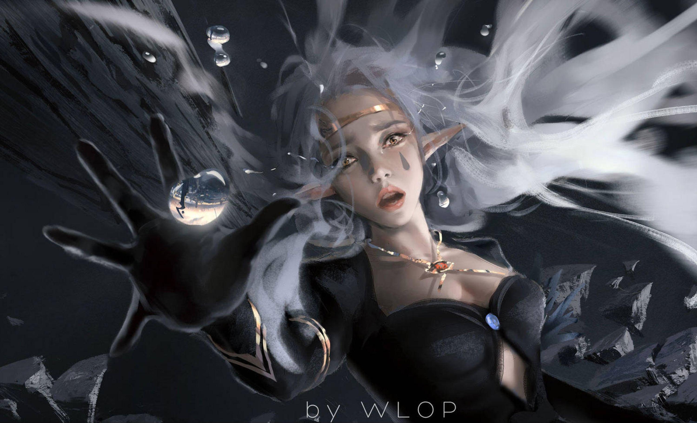 Fall by wlop on DeviantArt Fantasy girl, Art, Elf