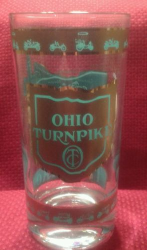 Ohio state turnpike #vintage 50- 60's souvenir #drinking glass  #illustrated ,  View more on the LINK: http://www.zeppy.io/product/gb/2/172017723866/