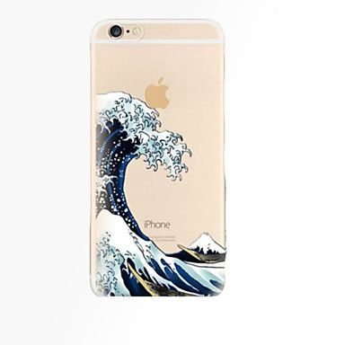 [$4.19] Case For Apple iPhone X / iPhone 8 Plus / iPhone 8 Transparent Back Cover Scenery Soft TPU 4K
