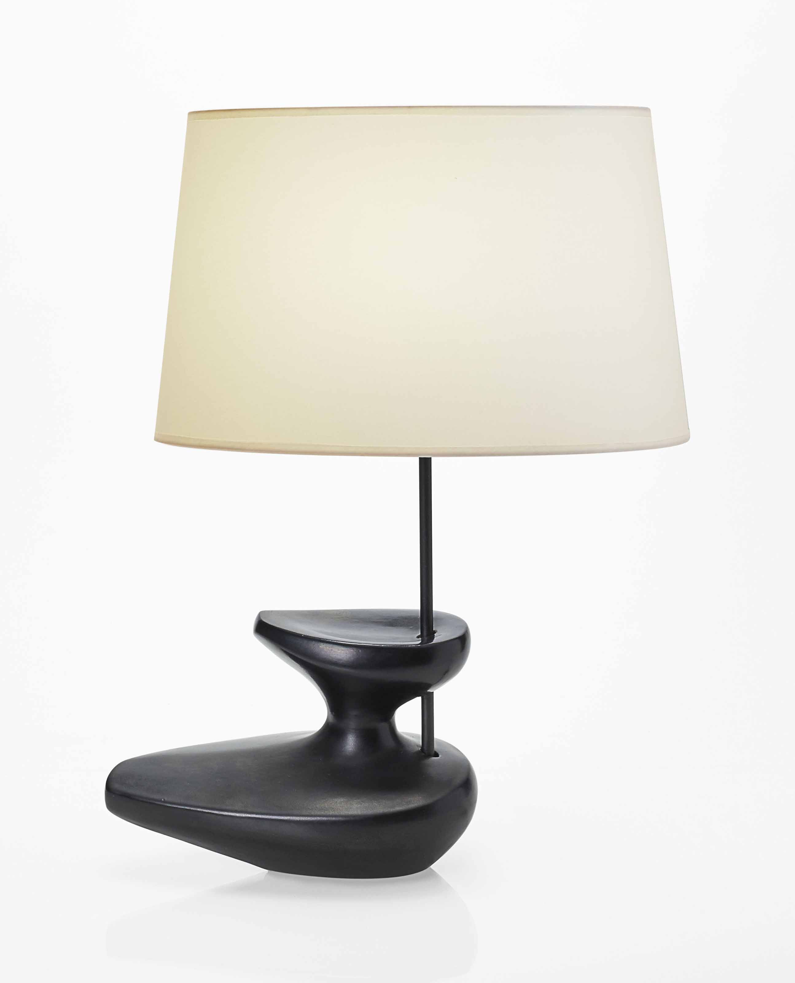 George Jouve 1910 1964 Lampe De Table Vers 1950 1950s Table Lamp Christie S Table Lamp Lamp Table