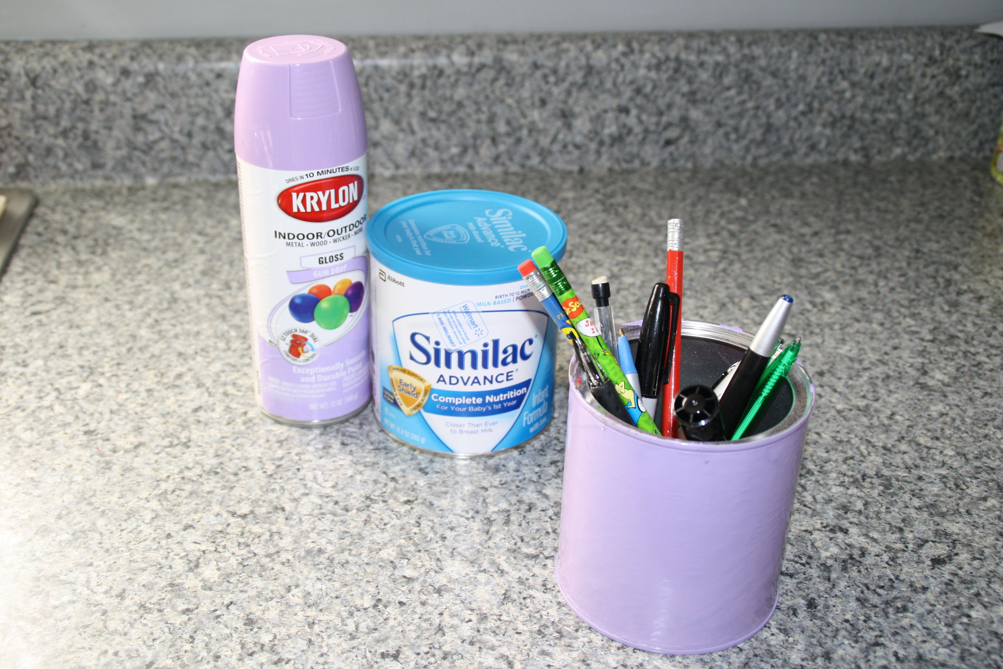 Formula Can Spray Paint Pen Holder Baby Formula Cans Formula Cans Baby Formula