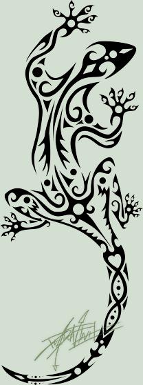 ad1274551e4a4 Lizard Tribal-Tattoo by Dragonfruit93.deviantart.com on @deviantART ...