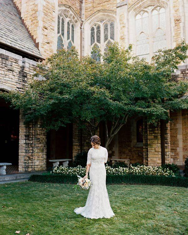 Gorgeous Sleeved Trumpet Gown Stephen Devries Southern Bride Weddings