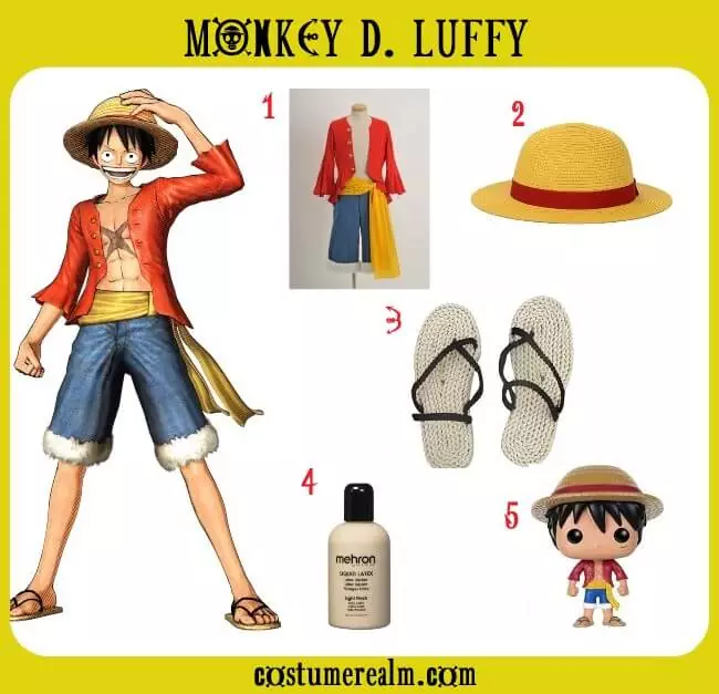 Today we show all outfits luffy has ever worn in chronological order. One Piece Luffy Costume One Piece Cosplay One Piece Cosplay Outfits