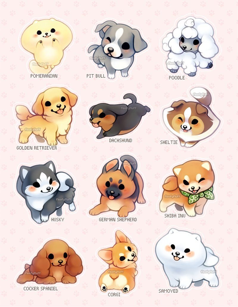 Image of: Stickers Cute Animals Cute Dogs 2 Ida ᏊꈊᏊ floofyfluff Twitter Cute Pinterest Pin By Brendadirk Cramplescrunch On Animal Drawing References