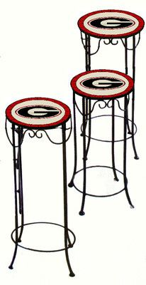UGA University of Georgia Bulldogs Stained Glass Nesting Tables Set of 3 | eBay