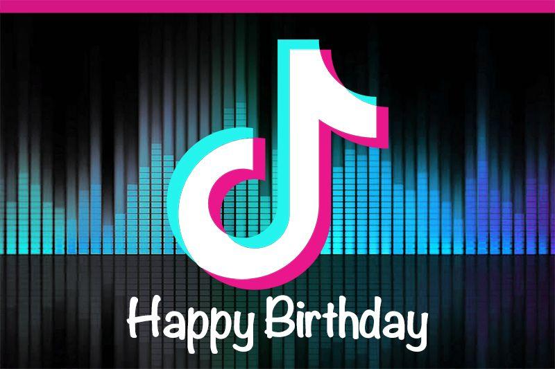 Tik Tok Happy Birthday Musical Symbols Photographic Background Photography Backdrop Background Photo Studio Studio Backdrops Backgrounds