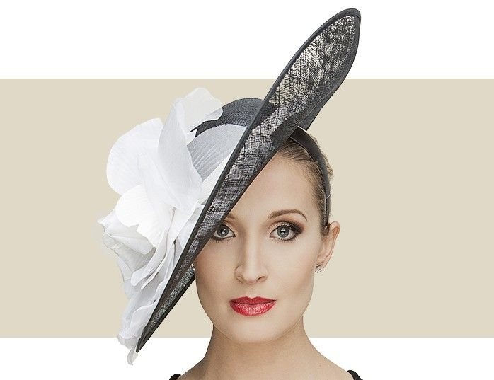 PATTI - A Superb Choice For Those Looking For A Non-Traditional Hat For The  Kentucky Oaks or Derby. Black Disc Fascinator Hat with Soft White Flower  Detail. 1ba35379ac0