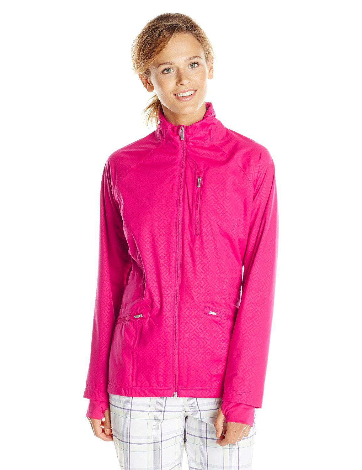 Made from 100% polyester this womens climaproof fashion golf ...