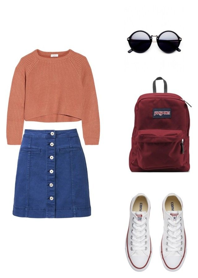 """""""Sin título #333"""" by dlalch on Polyvore featuring moda, Witchery, Brunello Cucinelli, Converse y JanSport"""