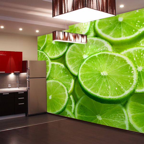 Fotomurales lime slices arquitectura pinterest - Fotomurales para cocinas ...