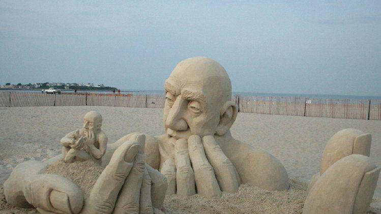"sand sculpture. ""grain damaged"""