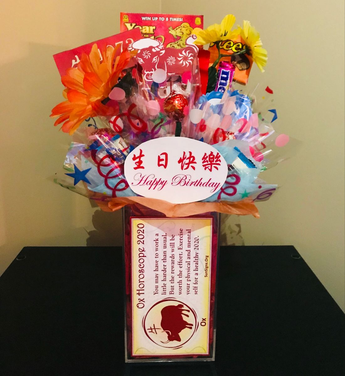 Happy Birthday with a Red Birthday Balloon Birthday