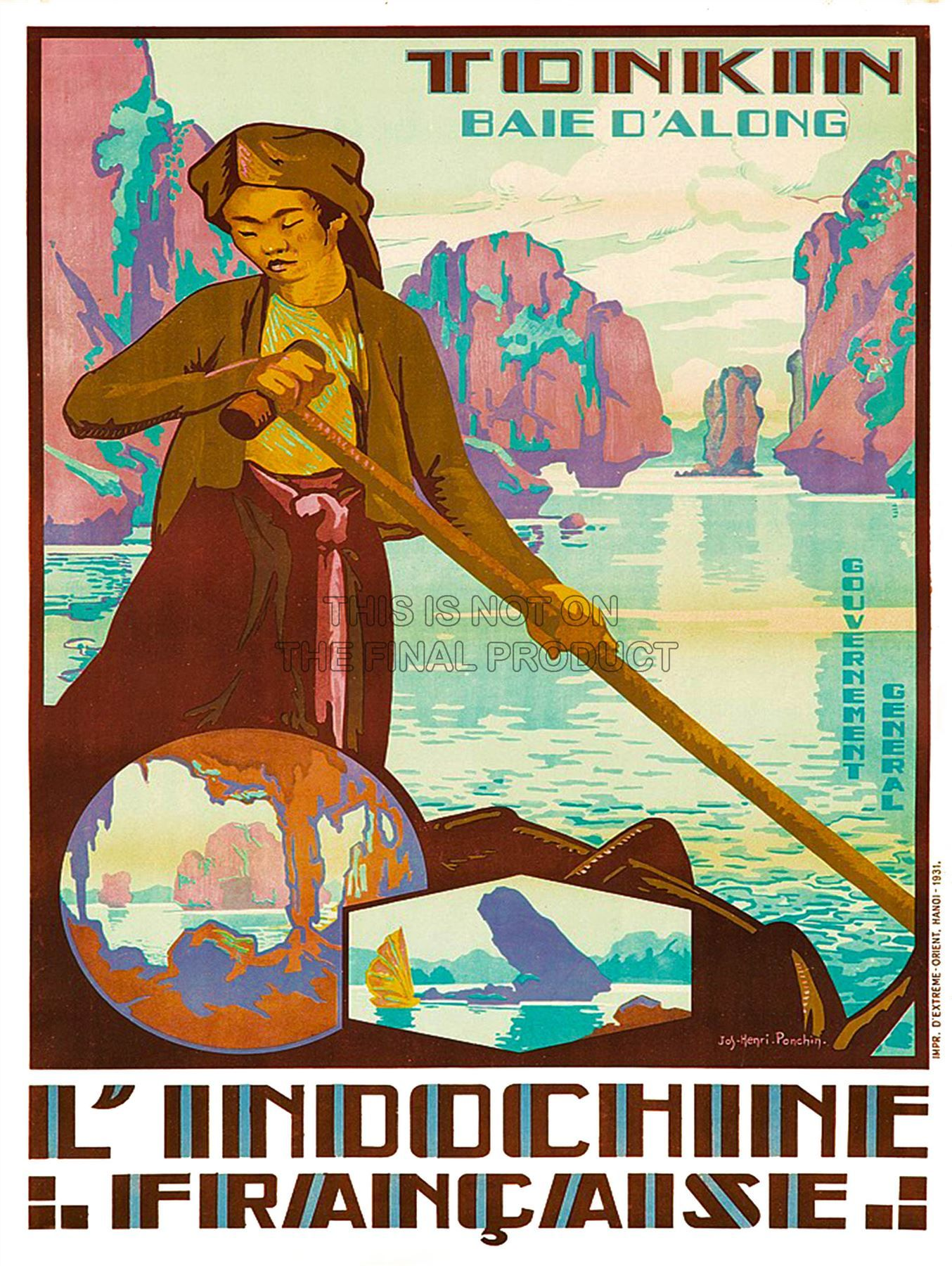 Travel Tonkin Vietnam Indochina River Boat France Art Print Poster Bb8466b Ideas For The House