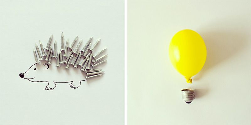 Art Director Javier Pérez Turns Everyday Objects into Whimsical Illustrations
