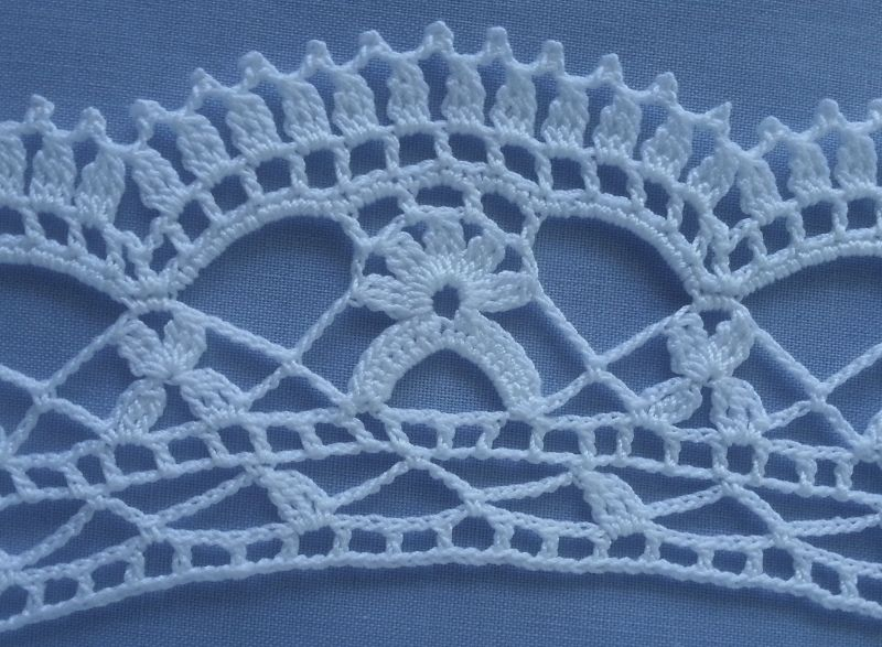 Curved Crochet Edging Not Exactly A Pattern But Close Up Photos