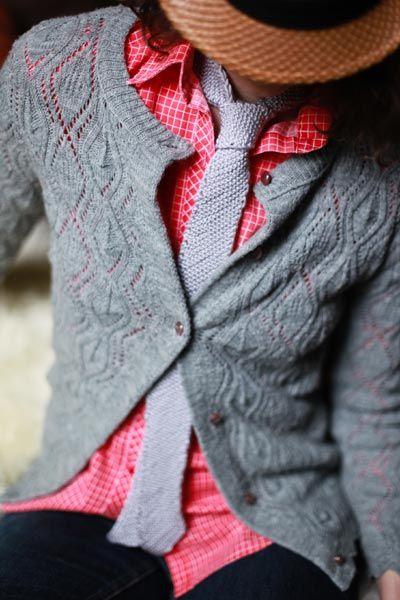 Free Knitting Pattern L10390 Dad Style Bias Knit Tie Lion Brand