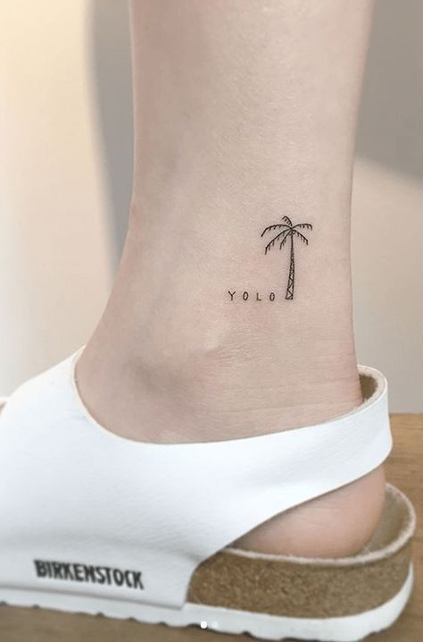 40 Trendy Palm Tree Tattoo Ankle Dr Woo