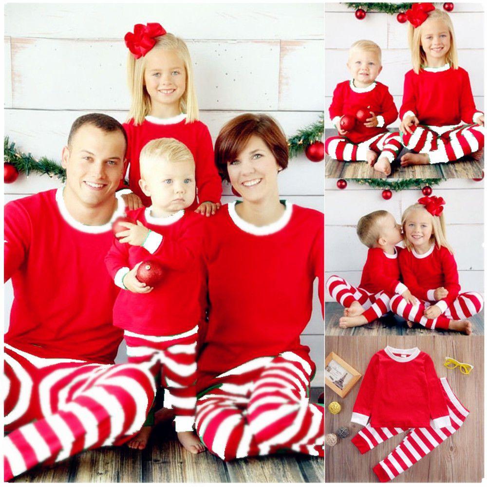 b22861304a54 Xmas Kids Adult Family Christmas Pajamas Sleepwear Nightwear Pyjamas  Costume  Unbranded