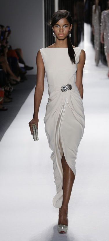 jenny packham Very, very chic! K.W. Love the pearl white, love the flow of the folds along the body and love the emphasis point. K.W.