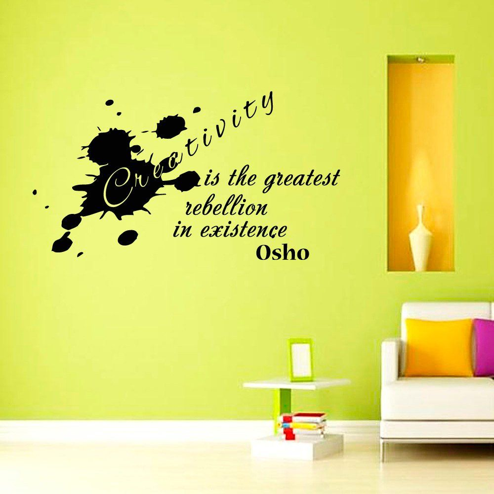 Wall Decals Quotes Creativity is the greatest rebellion in existence ...