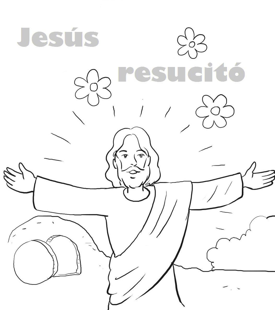 dibujos sobre Jesús para colorear | Dibujos De Jesús | イースター