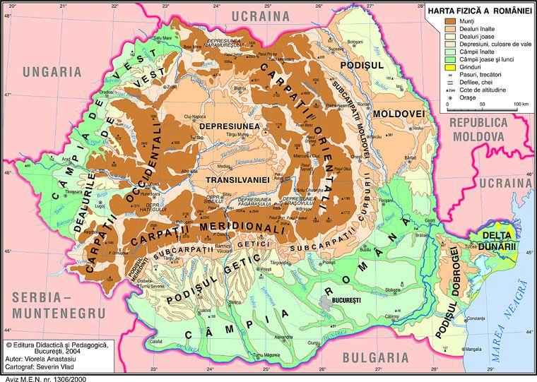 Imagini Pentru Harta Fizica A Romaniei Unitati De Relief Hartă