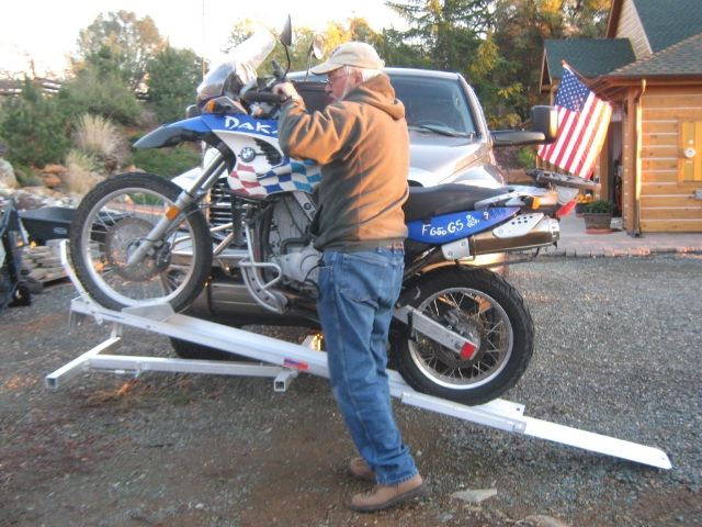 motorcycle carrier truck camper