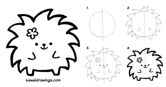 Paso A Paso Para Dibujar Un Tierno Puerco Espin Aprendemos A Dibujar Todo Bonito En 2020 Dibujos Kawaii Como Hacer Dibujos Kawaii Dibujos Kawaii Faciles
