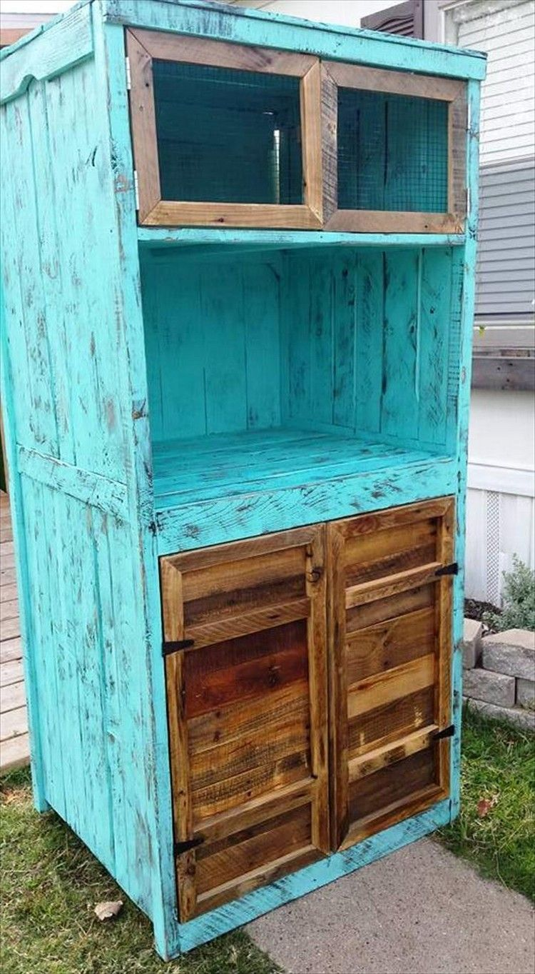 Pallet Cabinets / Kitchen Hutch - 30 DIY Pallet Ideas For DIY Home ...