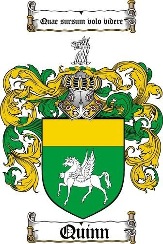 The quinn family crest flying my irish colors on st for Family motto tattoos