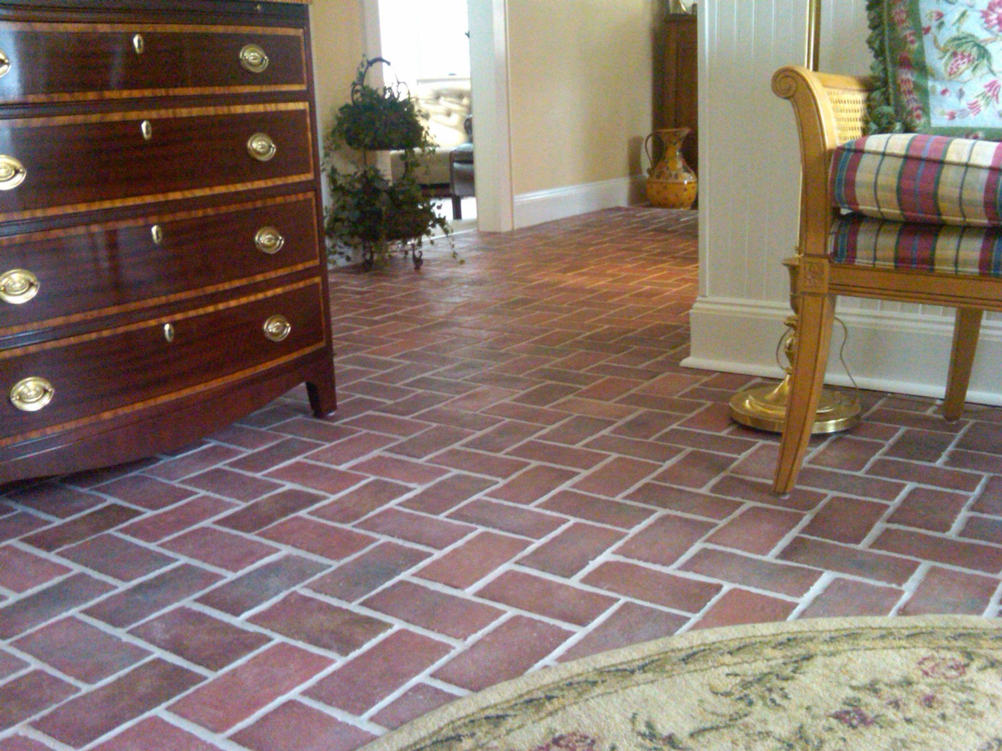 Room Rutherford Brick Tile Living Floor