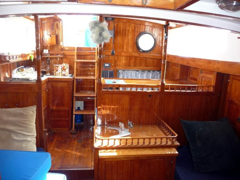 Formosa Cutter Ketch I Love The Wood Boat Interior Formosa