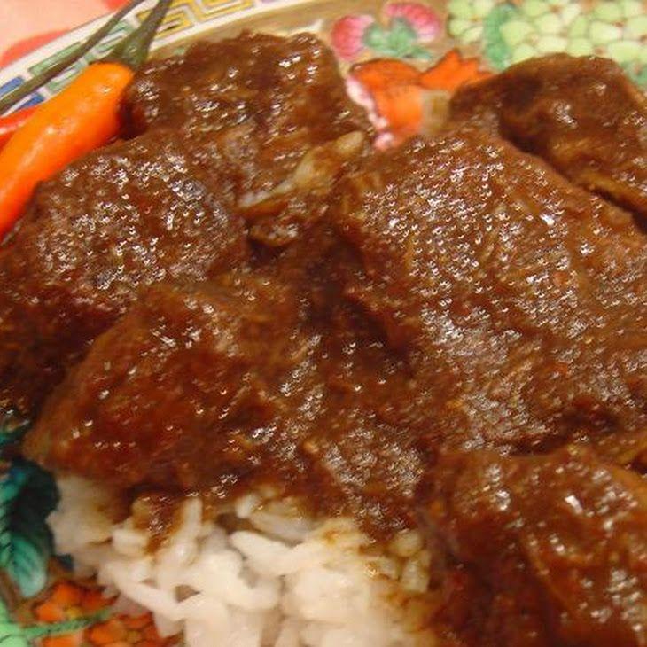 Rendang Padang Indonesian Beef Curry Slow Cooker Recipe