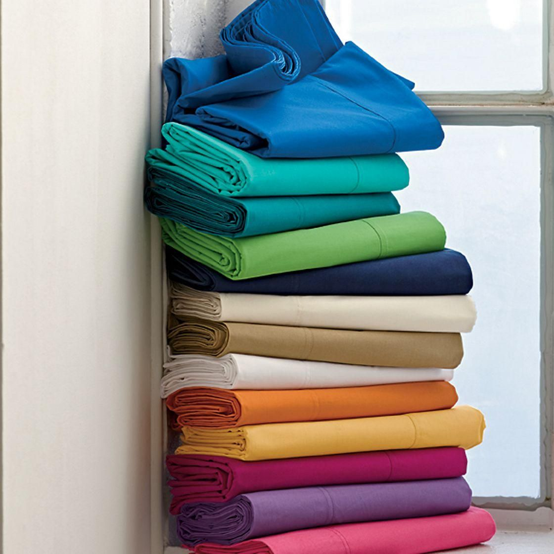 Classic percale solid sham at the company store home