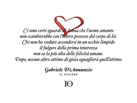 Fabuleux Gabriele D'Annunzio- Il Piacere- frase d'amore: | Citazioni  WO23