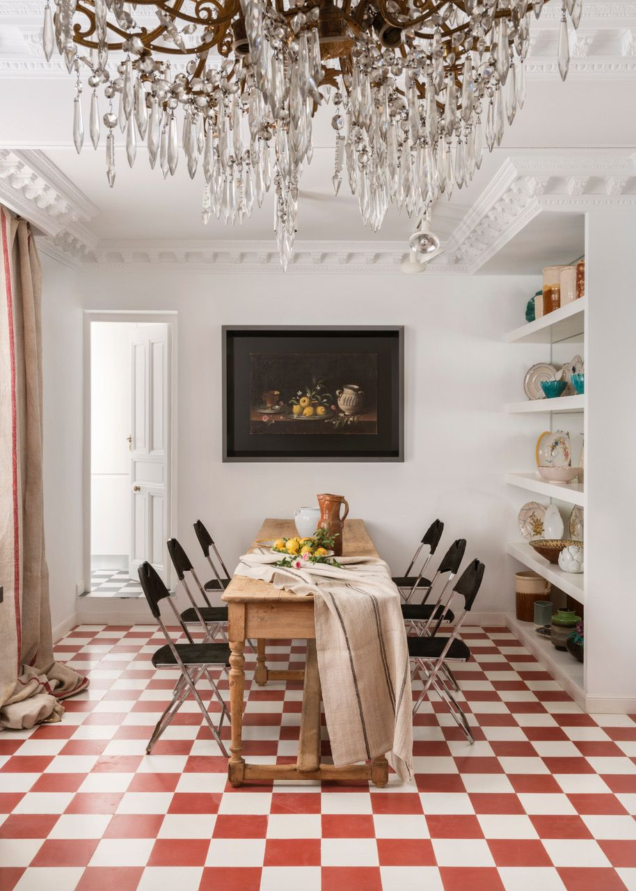 Piso En Madrid Santa Barbara Maria Llado Trendy Dining Room Home Living Room Dining Room Design