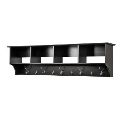 Prepac 40 In W Hanging Entryway ShelfBEC4016 The Home Depot New Home Depot Coat Rack Wall
