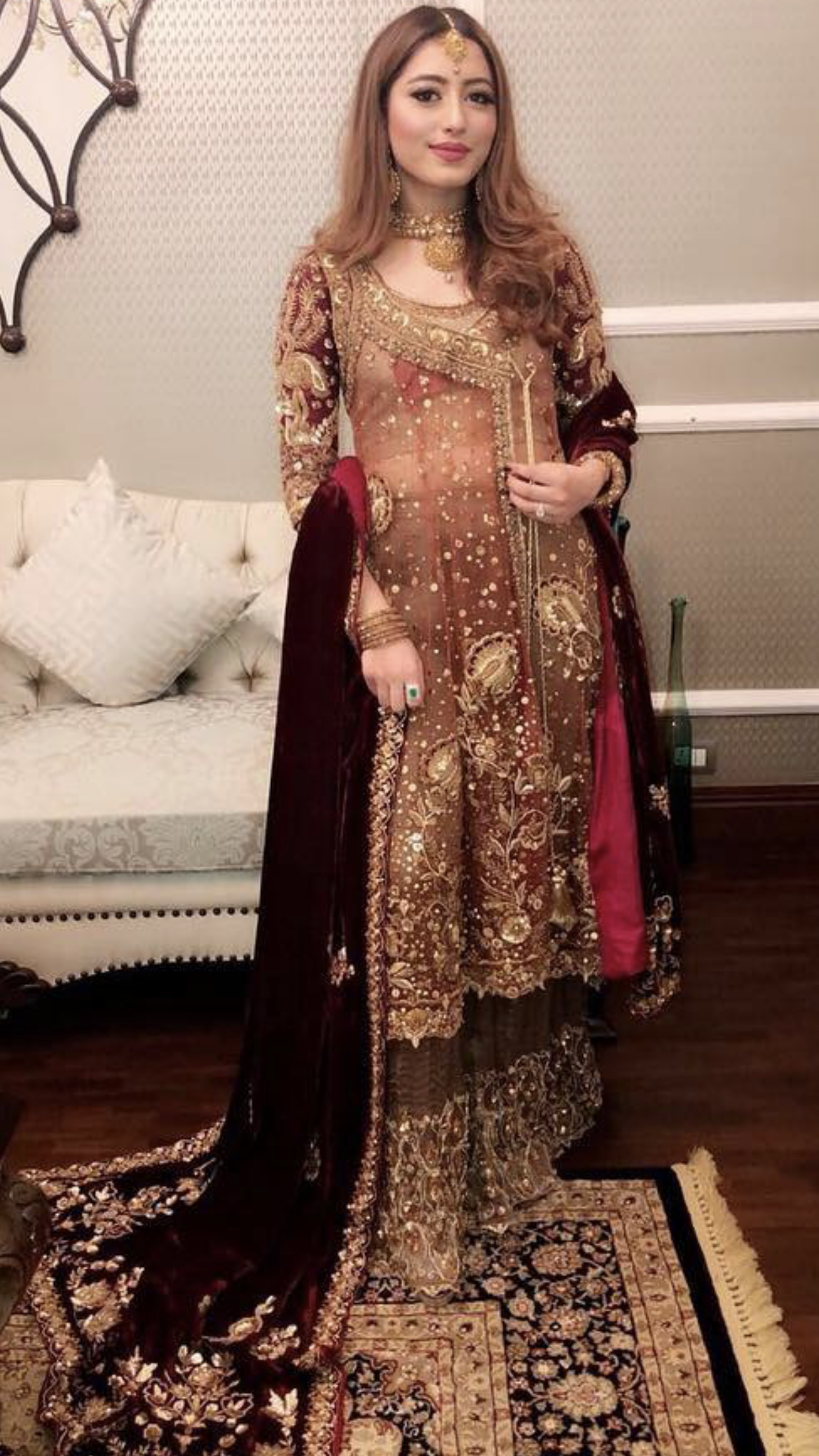 Brides Cousin Barat Outfit Casual Wedding Dress Pakistani Dresses Pakistani Bridal Dresses,Tea Length Wedding Dresses With Pockets