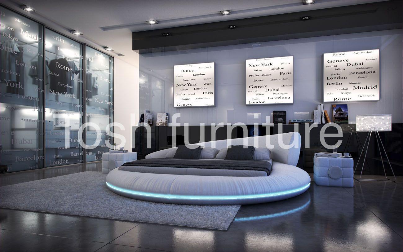 Modern Round Bed Futon Bedroom Furniture Room Ideas Cool