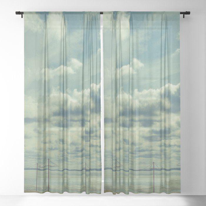 Empty Beach Sheer Window Curtains Dormroomdecor Curtains Best