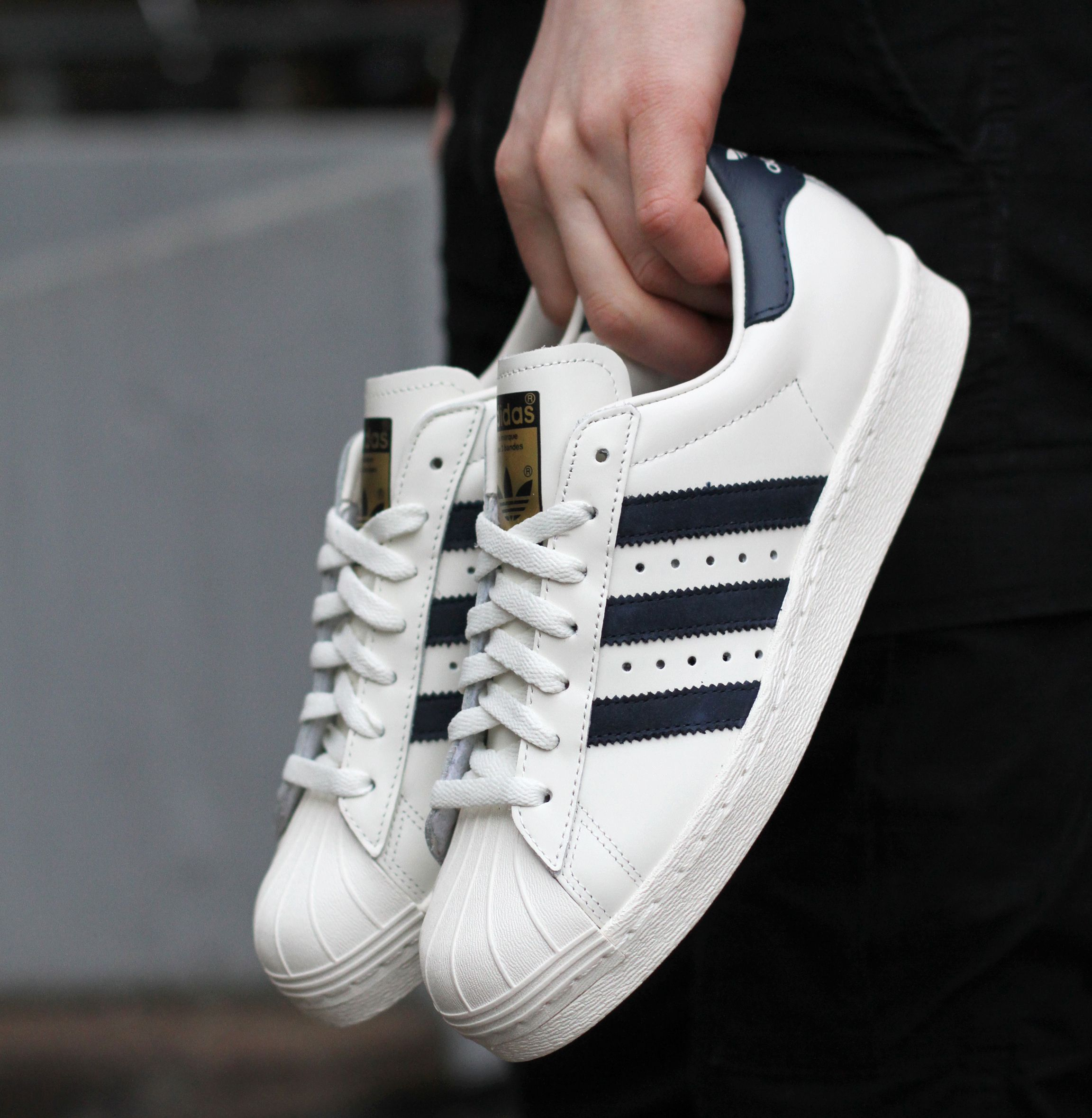 Beauty amp Youth x adidas Originals Superstar 80s White Navy cheap