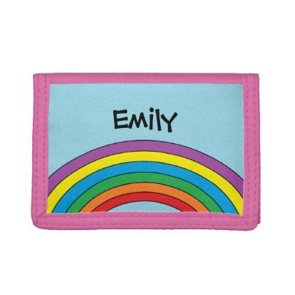 Personalized Rainbow Wallet - girl gifts special unique diy gift idea