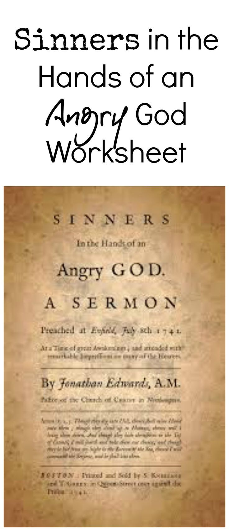 Worksheets Sinners In The Hands Of An Angry God Worksheet sinners in the hands of an angry god worksheet pinterest a designed to help students identify figurative language tone and rhetoric hans god