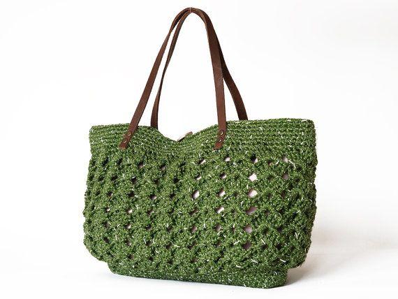 83a024cc98f6 Green summer Handbag Shoulder bag with Genuine by Sudrishta, $60.00 ...