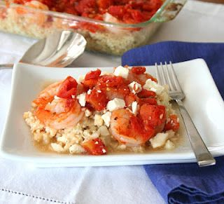 Greek Shrimp with Feta Tomatoes and White Wine - one of  my favorite dishes!