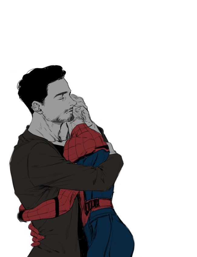 Peter x Tony Tony stark fanart, Marvel superheroes