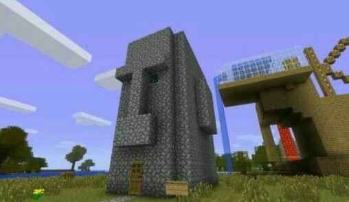 Minecraft Squidwards Tiki House Tiki House Minecraft Outdoor Decor