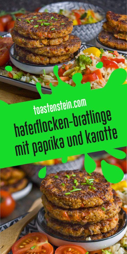 Haferflocken-Bratlinge mit Karotte und Paprika #healthycrockpotchickenrecipes