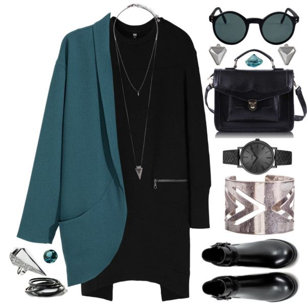 A fashion look from October 2014 featuring Uniqlo dresses, H&M jackets e Zara ankle booties. Browse and shop related looks.